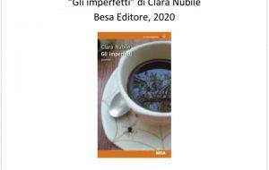 """Giovedì 20 Clara Nubile presenta il libro di poesie """"Gli imperfetti"""" alla Caffetteria Letteraria Nervegna"""