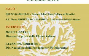 Chiesa valdese e Arcidiocesi Brindisi-Ostuni insieme per parlare di migranti
