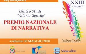 """Premio Nazionale di Narrativa """"Valerio Gentile"""": il bando della XXIII edizione"""