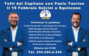 Oggi Salvini a Squinzano. Pullman dalla provincia di Brindisi