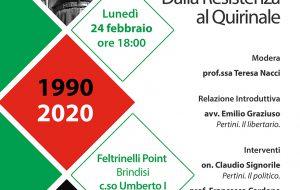 Sandro Pertini. Dalla Resistenza al Quirinale: se ne parla Lunedì 24 a La Feltrinelli Point di Brindisi