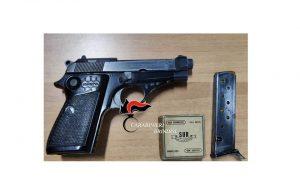 Detiene illegalmente pistola calibro 7,65 e pallottole: arrestato