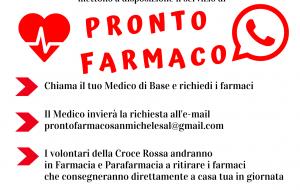 """Coronavirus: attivo a San Michele il servizio """"Pronto Farmaco"""" in collaborazione con la Croce Rossa ed i Medici di Famiglia"""