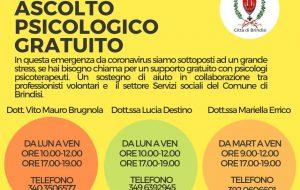 Coronavirus: anche a Brindisi servizio di assistenza psicologica gratuita per emergenza