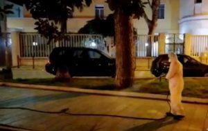 Continua la sanificazione in tutte le strade di Brindisi