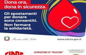 Donazione Fidas, martedì 14 aprile presso il centro di raccolta dell'Ospedale di Mesagne