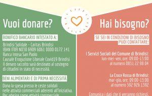 Nasce la rete di solidarietà Brindisi Solidale: ecco come contribuire