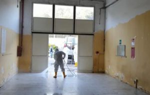 Sanificato il dormitorio di via Provinciale per San Vito