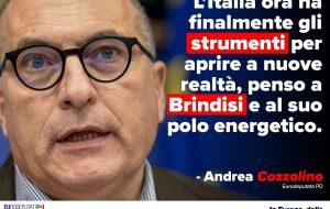 """Aumento dotazione Just transition Fund, Cozzolino (PD): """"grande apertura per Brindisi"""""""