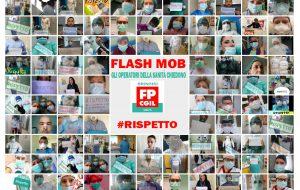 """Flash Mob degli operatori della sanità insieme alla Fp Cgil Brindisi: """"partecipi anche il DG"""""""