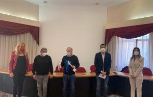 Rossi e Pinto dopo l'incontro con il gruppo Partite Iva Brindisi