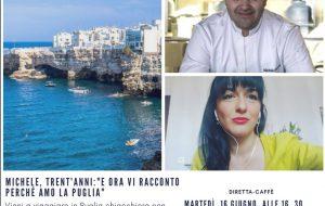 Nuovo appuntamento in diretta con Vieni a viaggiare in Puglia. Oggi ospite chef Cobuzzi