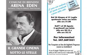 Cinema: con l'estate torna la programmazione dell'Arena Eden