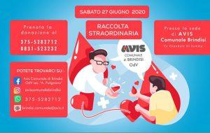 Avis: il 27 Giugno raccolta di sangue presso l'ex ospedale Di Summa