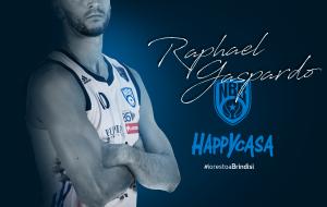 Raphael Gaspardo resta a Brindisi: firmato un contratto biennale