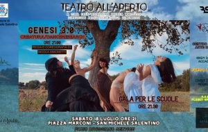 "Rassegna ""Teatro all'Aperto"": sabato 18 va in scena ""Genesi 3.0"""
