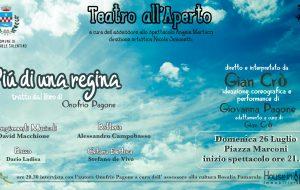 """San Michele: domenica 26 """"Più di una regina"""" chiude la rassegna """"Teatro all'aperto"""""""