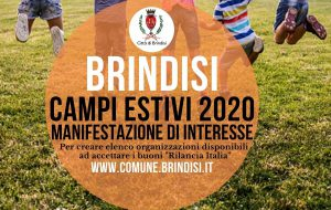 Avviso pubblico del Comune di Brindisi per l'organizzazione di campi estivi
