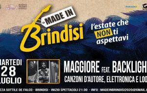 Made in Brindisi: stasera il concerto di Maggiore feat. Backlight