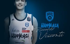 Colpaccio dell'Happy Casa Brindisi: firmato il 22enne Riccardo Visconti