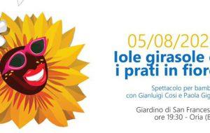"""Il Pozzo e l'Arancio: domani ad Oria va in scena lo spettacolo per i più piccoli """"Iole Girasole e i prati in fiore"""""""