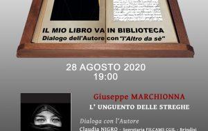 """Venerdì 28 si presenta il libro """"L'unguento delle streghe"""" di Giuseppe Marchionna"""
