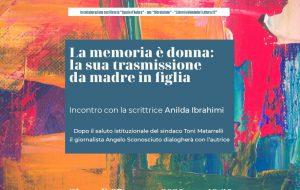 """La scrittrice Anilda Ibrahimi presenta """"Non c'è dolcezza"""" a Mesagne"""