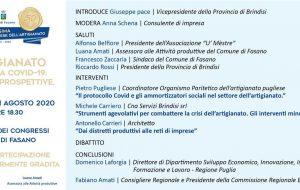 """Mostra fasanese dell'Artigianato: la Provincia di Brindisi presente al Convegno su """"Artigianato nell'era Covid 19. Realtà e prospettive"""""""