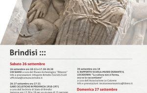 Il programma del Comune di Brindisi per le Giornate Europee del Patrimonio