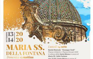 "Francavilla Fontana celebra la sua Santa Patrona ""Maria Santissima della Fontana""."
