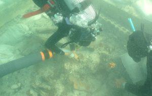 Proseguono le ricerche archeologiche subacquee nell'insenatura di Torre Santa Sabina