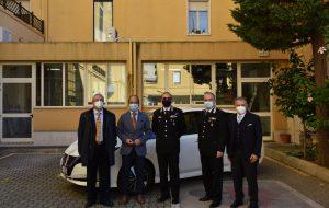 Enel concede in comodato d'uso ai Carabinieri un'autovettura elettrica