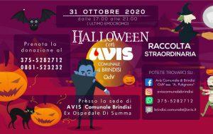 Halloween con Avis: sabato 31 raccolta straordinaria di sangue all'ex ospedale Di Summa