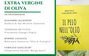 Parliamo dell'olio extravergine di oliva: venerdì 9 incontro pubblico a San Michele Salentino