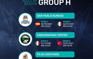 Basketball Champions League: il calendario della Happy Casa Brindisi