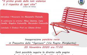 Giornata contro la Violenza alle Donne: alle 17.00 si inagura panchina rossa a San Vito dei Normanni