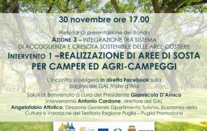 Il GAL Valle d'Itria riapre il bando per la realizzazione di Aree di sosta per camper ed agri-campeggi
