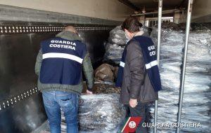 La Guardia Costiera sequestra 14 tonnellate di prodotto ittico proveniente dalla Grecia
