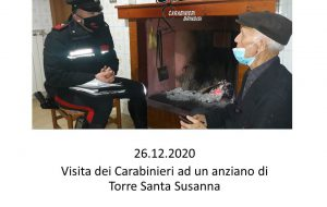 89enne vede in tv la storia dell'anziano di Bologna e chiede compagnia ai Carabinieri