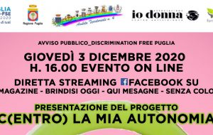 """Discrimination Free Puglia: domani si presenta il progetto """"C(entro) la mia autonomia"""": protagoniste 19 donne vittime di violenza"""