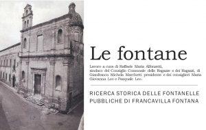Continua il progetto sulle fontane pubbliche di Francavilla Fontana