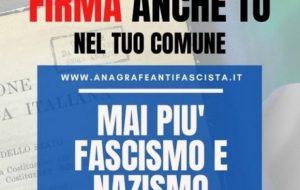 Raccolta firma per la proposta di legge contro la propaganda fascista
