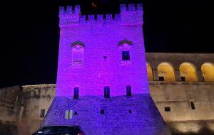 Il Castello di Mesagne si tinge di viola per la Giornata Internazionale dell'epilessia
