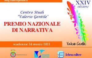 """Premio Nazionale di Narrativa """"Valerio Gentile"""": il bando della XXIV edizione"""