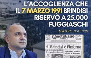 """Esodo albanesi, D'Attis (FI): """"la Regione Puglia non dimentichi l'accoglienza che Brindisi riservò ai 25mila fuggiaschi"""""""