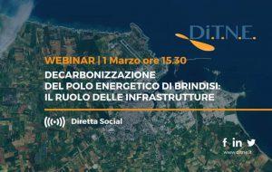 Lunedì 1 il secondo Webinar del DiTNE sugli effetti del processo di decarbonizzazione del polo energetico di Brindisi