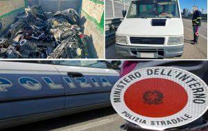 In viaggio con due motori di auto e varie parti meccaniche: bloccato dalla PolStrada di Brindisi
