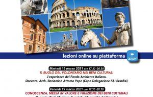 Il volontariato nei Beni Culturali: Le Colonne, Mamadù e Alt liberi tutti promuovono un corso online
