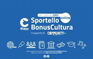 Sportello Bonus Cultura 18app online di Community HUB Brindisi – per i nati nel 2002