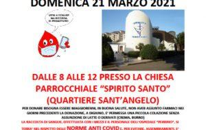 Fratres San Lorenzo, domenica 21 marzo raccolta di sangue presso la  parrocchia Spirito Santo al rione Sant'Angelo